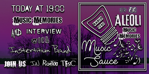 Overview of the EP21 of AleOli Music Sauce, Music Story Special with Interstitium band