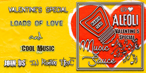 Link to Valentines Special of AleOli Music Sauce, interviewing Abby K On bass and talking about cool love songs